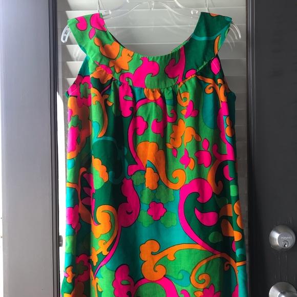 Vintage Dresses & Skirts - Vintage 1960's Psychedelic 🌸 Power Homemade Dress